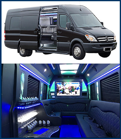 Limousine Service, Party Bus Rental, Airport Sedan Car Transportation